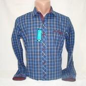 Мужская тёплая рубашка в клетку Fr. Varetti, Турция. Разные цвета.
