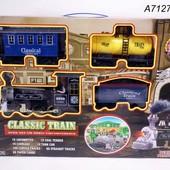 Железная дорога на батарейках, свет, звук, в коробке 52,0*36,0*10,0 см