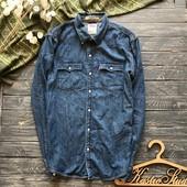Крутая брендовая джинсовая рубашка Levi's р-р Хл