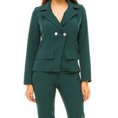 Размеры 42-48 Стильный деловой брючный женский костюм