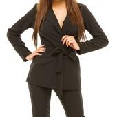Размеры 42-48 Стильный женский деловой брючный костюм