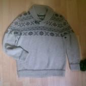 Фирменные теплая кофта свитер L