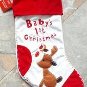 Рождественский новогодний сапожок для подарков
