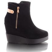 Элегантные демисезонные замшевые женские ботинки