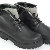 Зимние кожаный женские ботинки