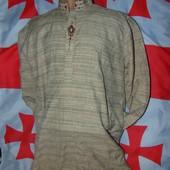 Нарядная брендовая льняная мусульманская восточная курта рубашка  бренд Aladin.м-л .