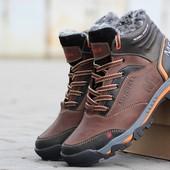 Ботинки зимние Merrell brown, кожа
