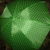 Зонт детский, однотонный, в горошек