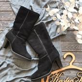 Зимние сапоги на устойчивом каблуке р-р 37
