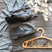 Мужские кожаные ботинки челси р-р 40
