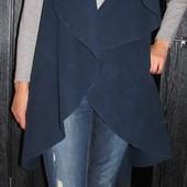 Трендовое длинное пальто без рукавов, жилет, накидка, тренч Luigi moda Italy