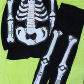 S/M Раздельный карнавальный костюм Скелет Хеллоуин Halloween
