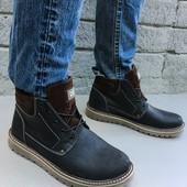 Ботинки мужские зима кожа