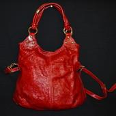 лаковая кожаная сумка Berge