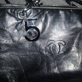 Chanel vintage  кожаная сумка
