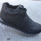 Кожаные кроссовки на зиму, с мехом, 2 цвета