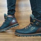 Мужские зимние ботинки Zangak Черный\коричневый