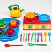 Посуда Юная господарочка №10 28-элементов Бамсик 048/10 Bamsic посудка
