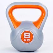 Гиря пластиковая 5734-8: вес 8кг