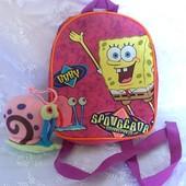 Детский рюкзачок Спанч Боб + игрушка-подвеска в подарок