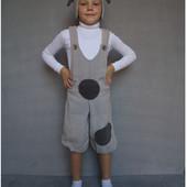 Карнавальный костюм Собачка №1 Серый