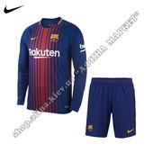Детская футбольная форма Барселона с длинным рукавом Nike 2017-2018 домашняя (2465)