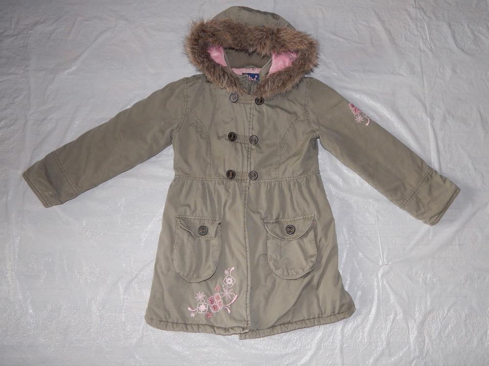 р. 140-146-152, удлиненная куртка парка Gloss демисезонная фото №1