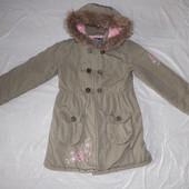 р. 140-146-152, удлиненная куртка парка Gloss демисезонная