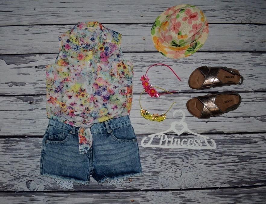 8 - 9 лет 134 см рубашка блузка блуза для модниц легкая натуральная цветы фото №1