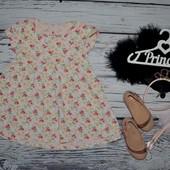 2 - 3 года 98 см Обалденная Фирменное платье туника Next Некст цветы
