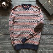 Котоновый мужской свитер р-р М-Л