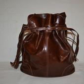 кожаная сумка-мешочек