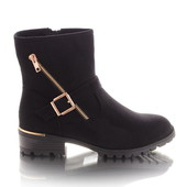 Стильные замшевые женские ботинки