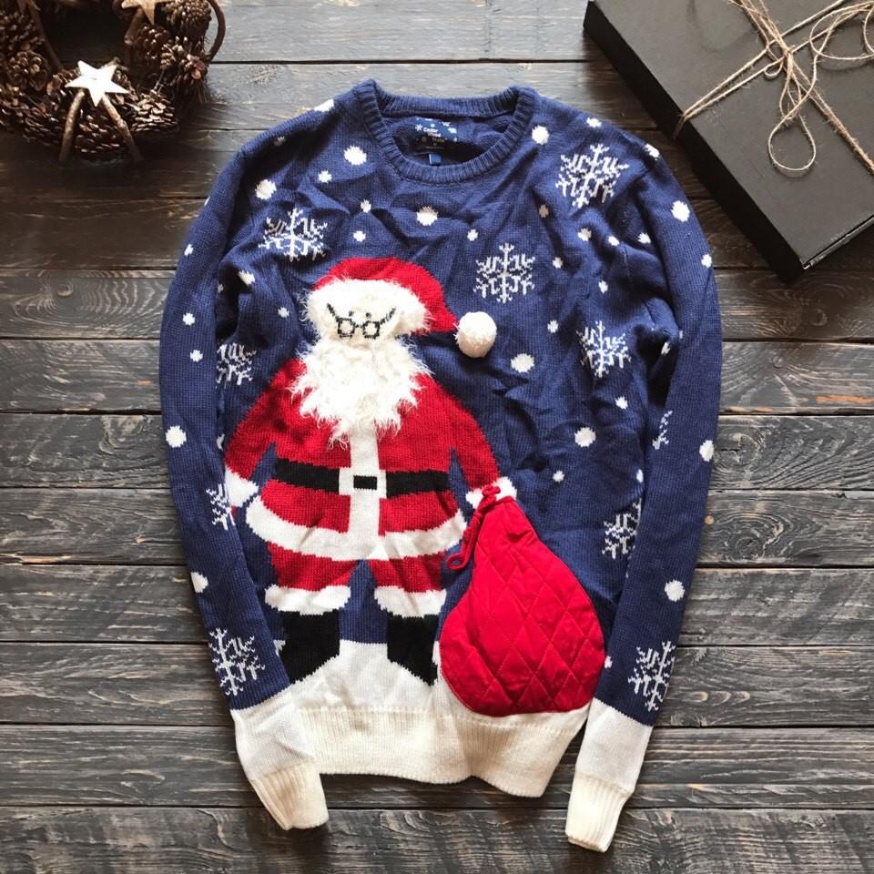 Крутой мужской свитер с Сантой Cedarwood State р-р M фото №1