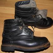 (i236)зимние кожаные ботинки 43 р