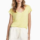 Льняной топ, H&M, S футболка