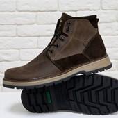 Новинка!!!! мужские зимние ботинки  натуральная кожа/замша  Б-44