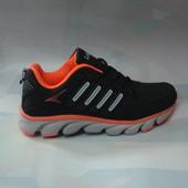 Подростковые кроссовки 36-41р черные.