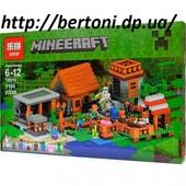 Конструктор Lepin Minecraft 18010 Деревня, 1106 деталей