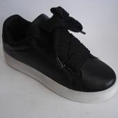 Кроссовки - ботинки подростковые 36-41р черные