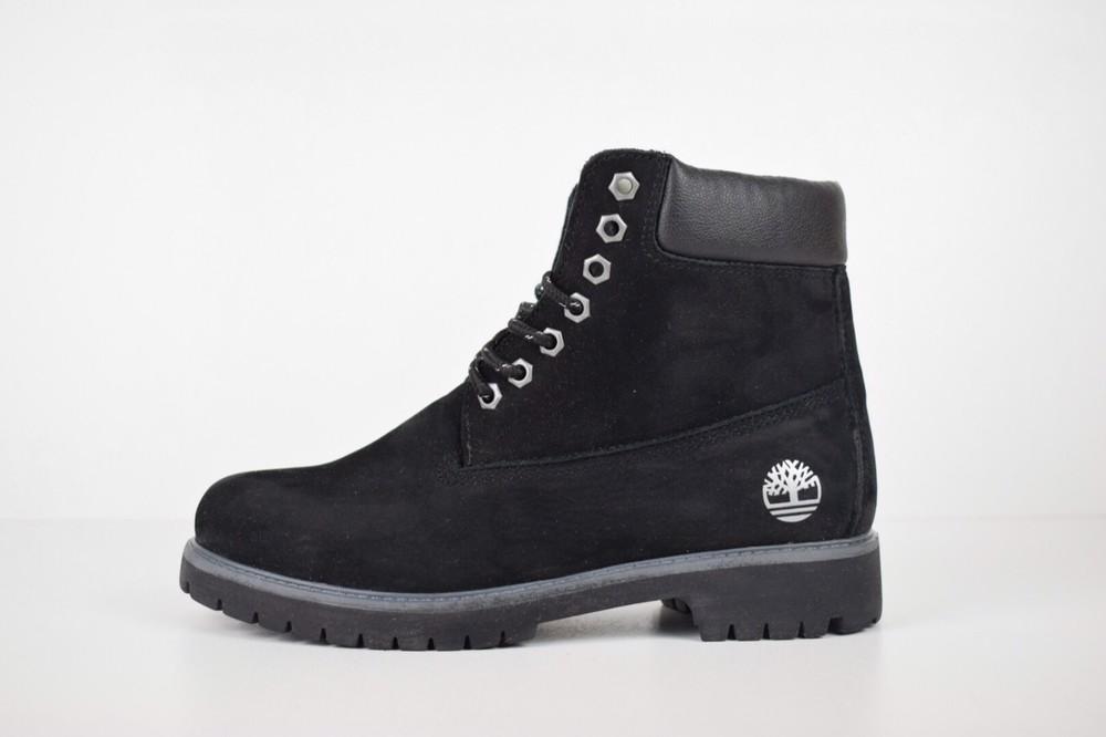 Зимние женские ботинки timberland black фото №1