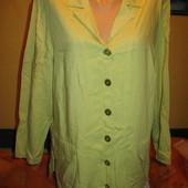Куртка-пиджак,вискоза+лён,р.52-54.Creation (Криейшн).