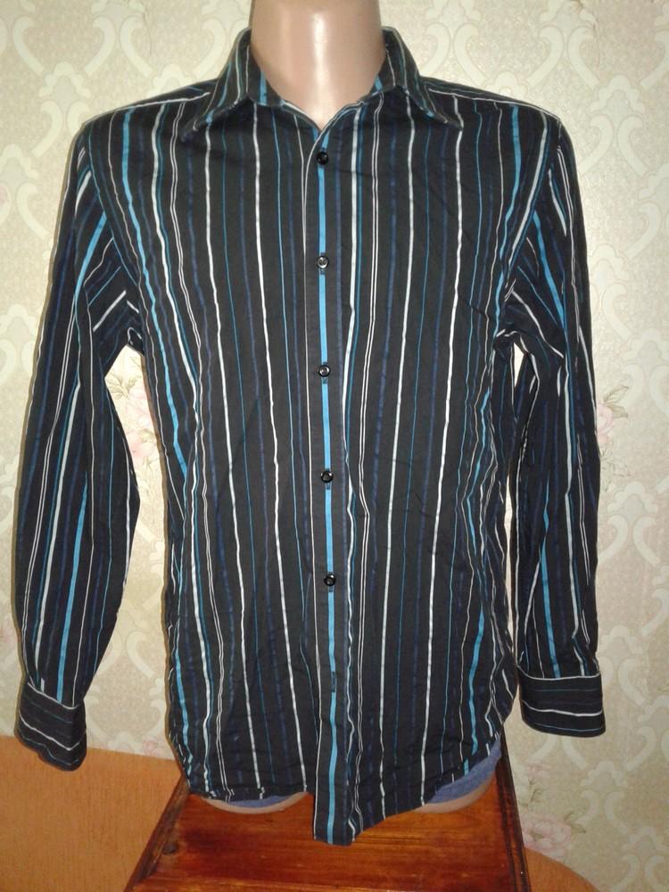 Брендовая мужская рубашка jeff banks. размер м. фото №1
