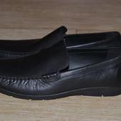 Geox туфли 45р кожаные оригинал. почти новые. мокасины