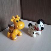 Первые друзья, собачка и жираф Tolo