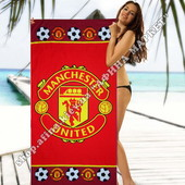 Пляжное полотенце Манчестер Юнайтед микрофибра 70*140 см (2340)
