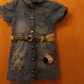 Модное джинсовое платье на принцессу
