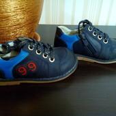 Туфли кожаные для мальчика, 24 размер, стелька 15,5 см