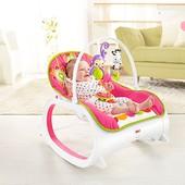 Кресло качалка с вибрацией Fisher-Price роз.