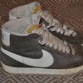 высокие кроссовки ботинки Nike замша в идеале 24 см стелька